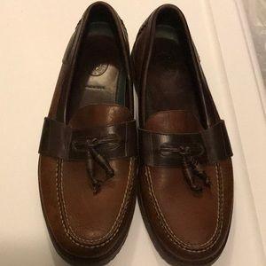 Men's. H S Trask tasseled boater loafers